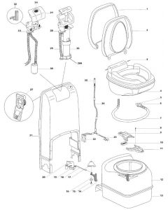 Thetford C200 CW/CWE Toilet Spare Parts