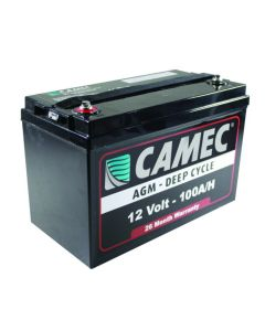 Camec Deep Cycle Battery. 12V 100 A/h (AGM)
