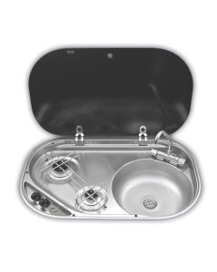 Dometic 2 Burner Gas Hob, Sink & Tap
